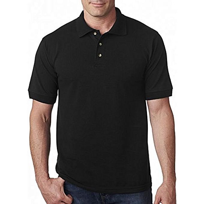 7bae833c4ca0 Buy Generic Men's Designer Polo T-Shirt, Black online | Jumia Uganda