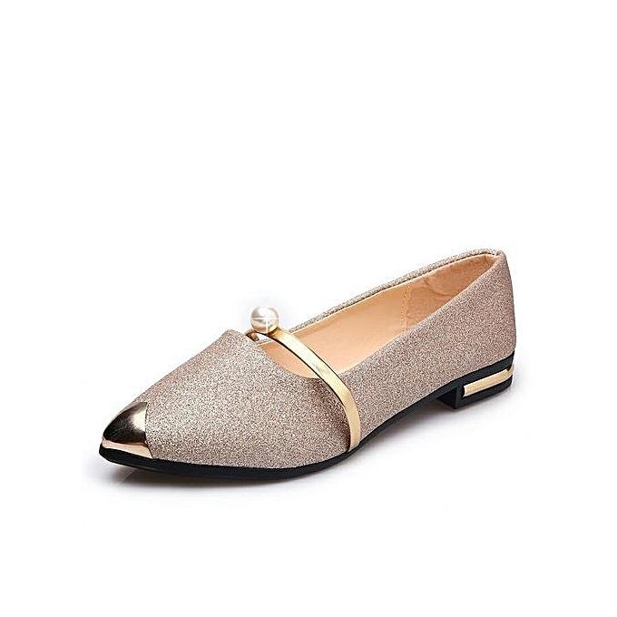 106065a297 Buy Generic Stylish Shinning Pear Flat Single Shoes For Elegant ...