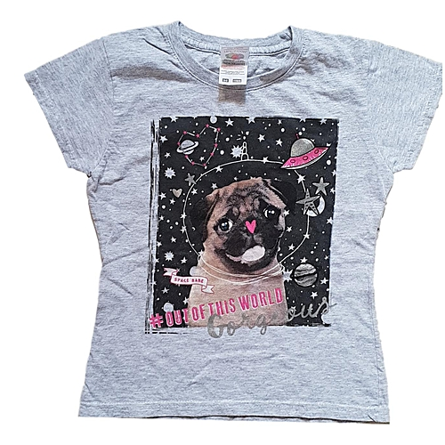 855547cb Generic Girls Space Pug T-Shirt | Jumia Uganda