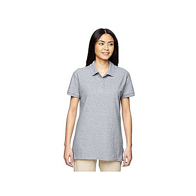 90c855dd21f Buy Other Plain Grey Women's Polo T-Shirt. online | Jumia Uganda