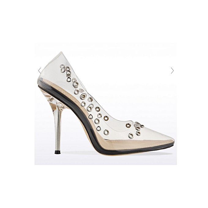 de76e859f2c Clear Eyelet Detailed Perspex Court Shoes