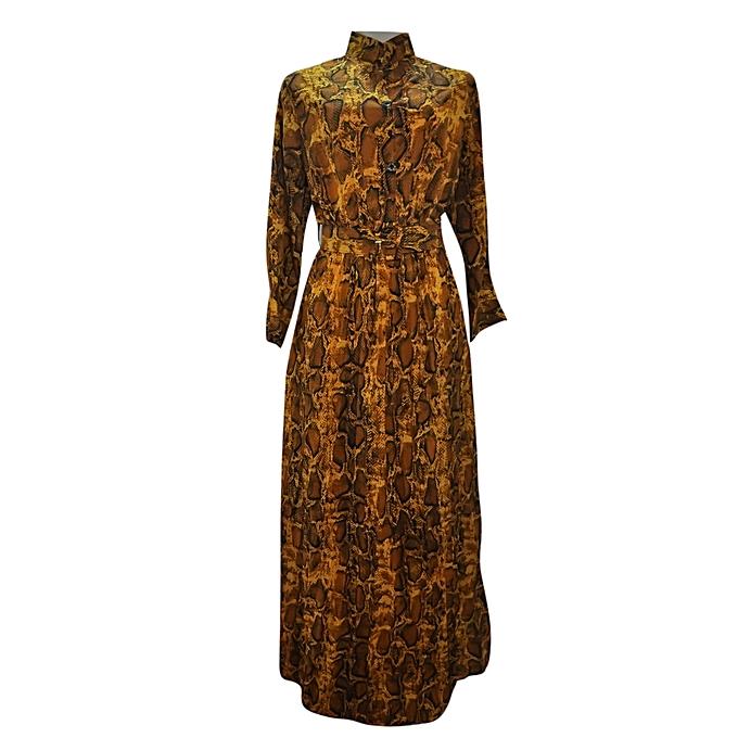 44a2ec17df4e Buy Agelex DLargge Snakeskin-Print Maxi dress online | Jumia Uganda