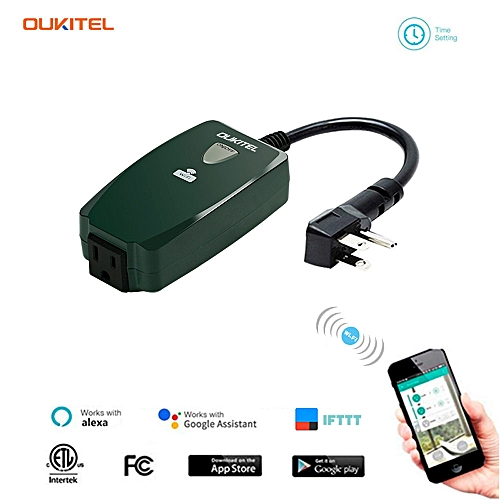 Wifi Outdoor Smart Plug Outlet Oukitel Wireless Individual Remote Control  Switch