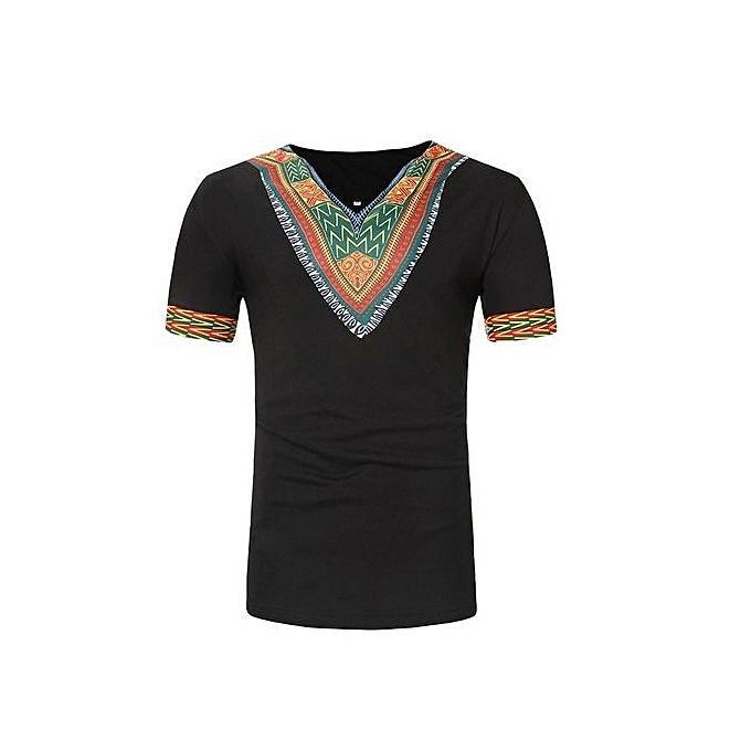 6d9cf771 ... Stylish African Style Ethnic Print Men's Short -sleeved T-shirt ...