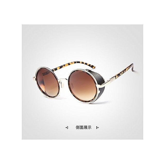 b31a59edd ... Retro Round Steampunk Unisex Sunglasseswomen/men Vintage Gothic  Sunglasses Goggle Oculos De Sol Feminino ...