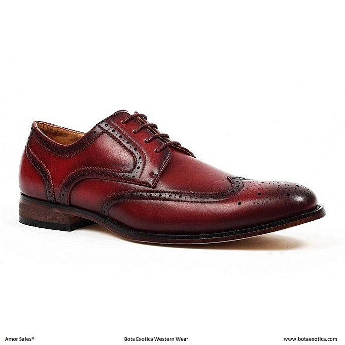 b05f34f5391e5 Buy Other Men's Leather Wingtip Shoes - Maroon online | Jumia Uganda