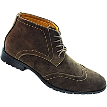 Oxford Wing Tip Boots - Brown c0ac8ae02b18
