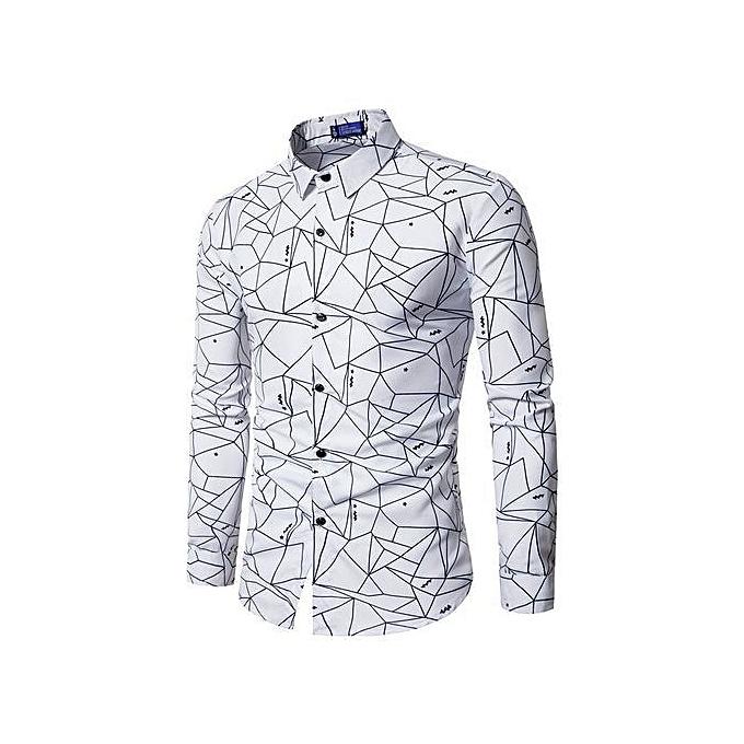 4aa19a30ccbdcb Buy Generic Stylish Europe Size Men Long Sleeve Geometry Printed ...