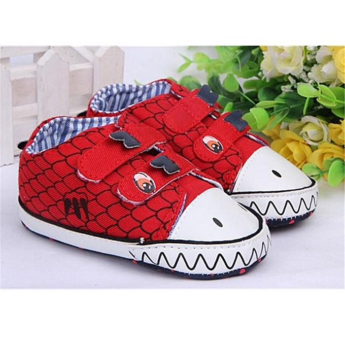 43c120b32d9bd Dinosaur Baby Soft Sole Crib Shoes Velcro Walking Toddler Sneakers 0-18  Months RED-UK