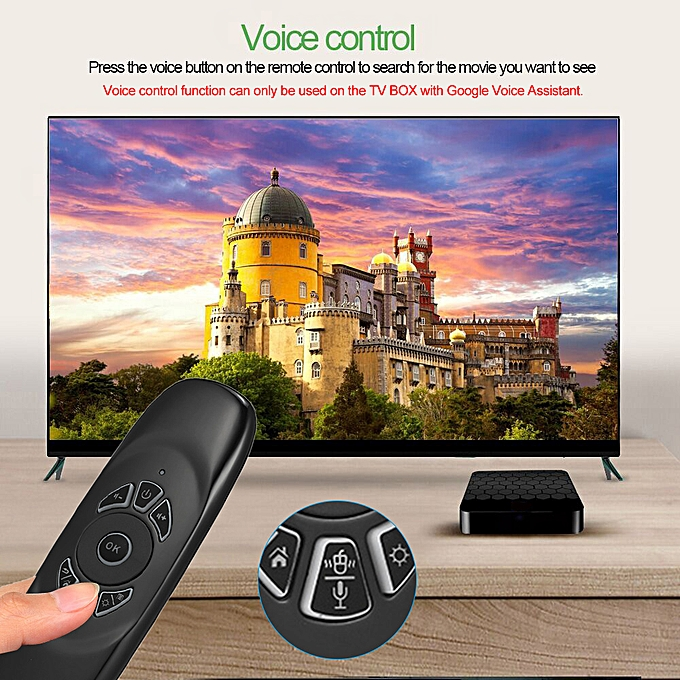 Backlit 2 4G Air Mouse Wireless Keyboard Voice Control 6-Axis Motion  Sensing Backlight for Smart TV Android TV BOX PC
