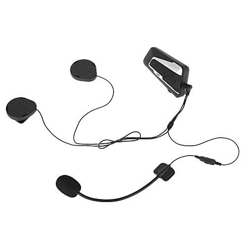 T9S Motorcycle Helmet Headset Bluetooth Intercom 1000m Interphone Distance  FM Radio Hands-free with Mic IPX7 Waterproof Dust proof