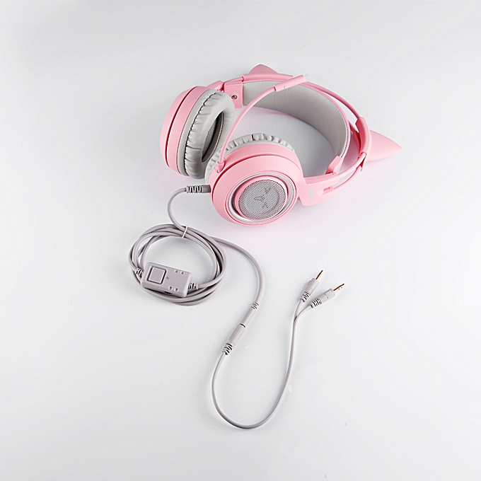 7329c61728b ... SOMIC G951S Wired Gaming Headset Pink Cat Ear Headphone with Mic 7.1  Sound Channel 3.5mm ...
