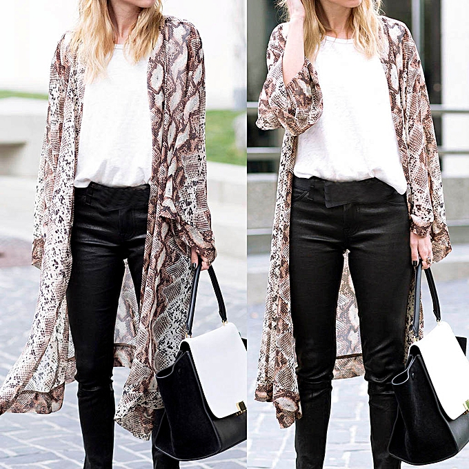 6a93bba43e Hiamok Womens Sheer Chiffon Beach Kimono Long Cardigan Blouse Shawl Loose  Tops Outwear