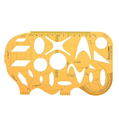 Maths X Y Axis Mathematical Function Drawing Template KT Soft Plastifc  Ruler Geometry Protractor