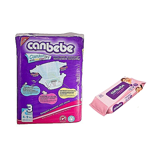 d52f0069ab8 Buy Generic Canbebe Diapers size 3 (4-9kgs) counts 36pcs - Purple online    Jumia Uganda