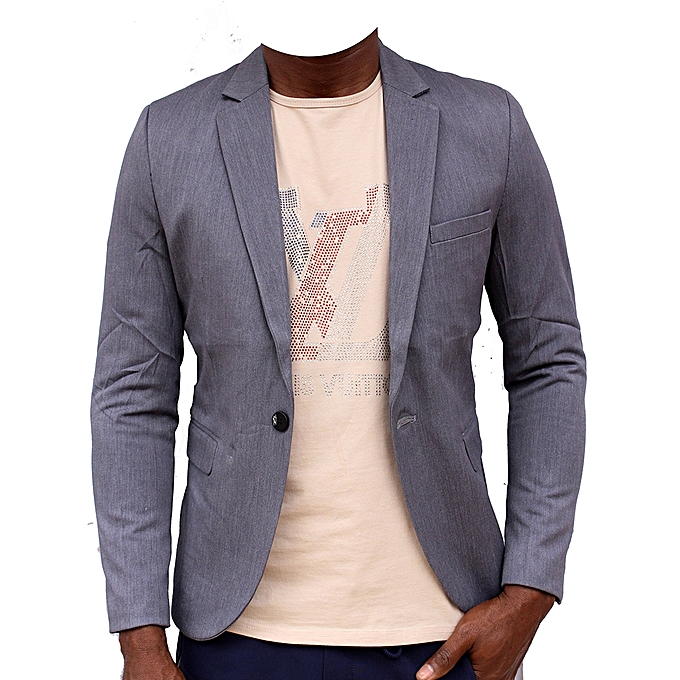 Blazers Jumia: New Men's Designers Slim-Fit Blazer Grey