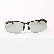 596cbea69f HD Lens Photochromic Polarized Sunglasses Men Driving Day and Night Vision  - Clear