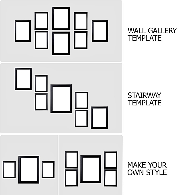 Buy Generic 12 Pack Picture Frames Collage Photo Frames Wall Gallery ...