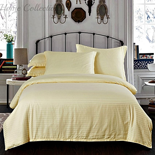 5*6 Cream Satin Bedsheets