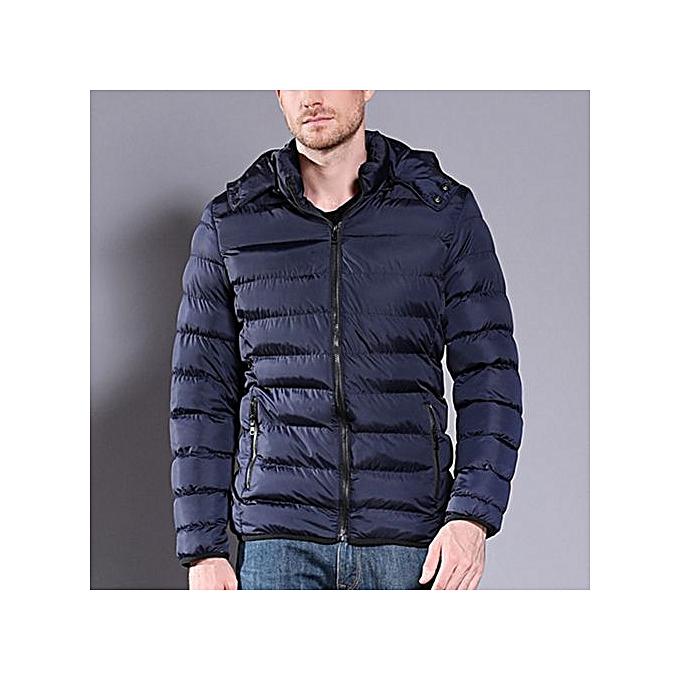 bb71595d433 Lightweight Fashion Men'S Jacket Hood Coat Parka,Deep Blue