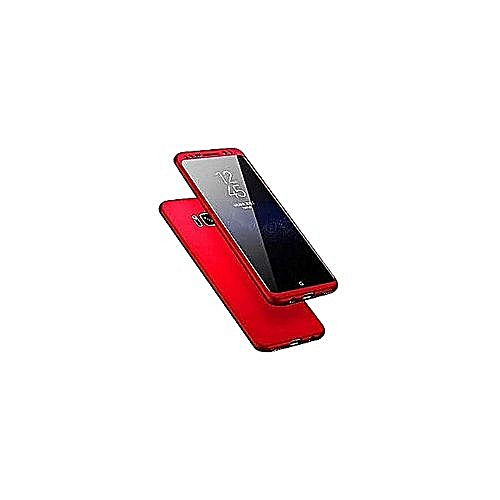 timeless design a5857 118aa 360 Degrees Rubber Case For Samsung Galaxy S8 - Red