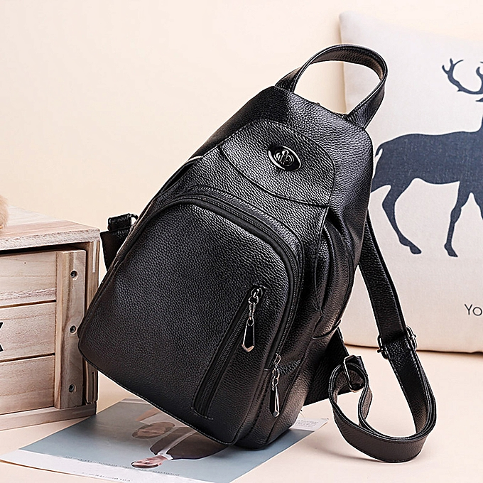 0b59446aa Hiamok _Woman Multi-function Backpack Soft Leather Anti-theft Personality  Small Backpack