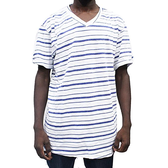ce82e1e460eb Buy Generic Men's Short Sleeved T Shirt With Light Blue Stripes ...