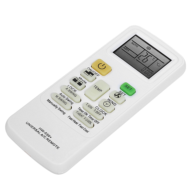 Universal LCD Screen A/C Air Conditioner Remote Control Conditioning  Controller for HAIER Midea LG TCL FUJITSU SHARP White