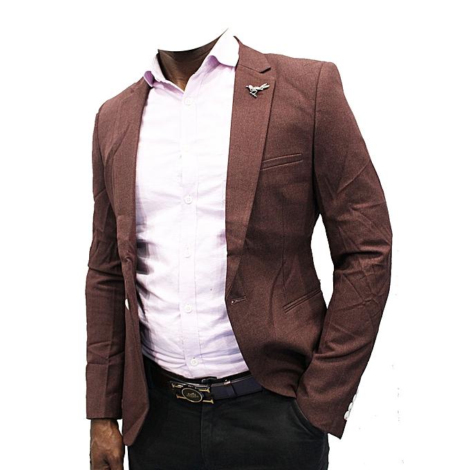 New Designers Men Slim-Fit Blazer - Brown
