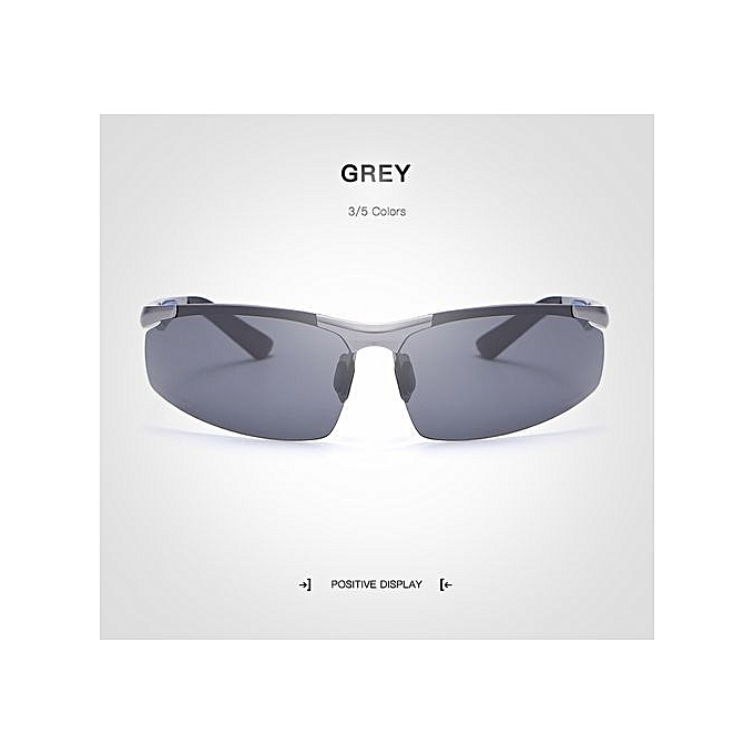 728a6a97d Men's Rimless Driving Sunglasses Polarized Aluminum Magnesium Mirror  Sunglass Eyewear Oculos De Sol Masculino: