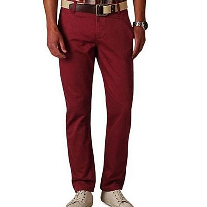 Buy New 3 Pack Of Khaki Men S Trousers Black Maroon