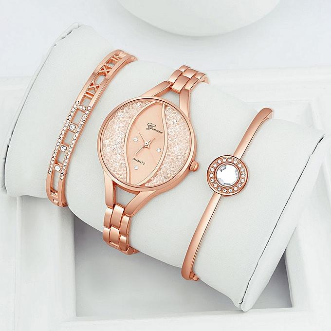 0ab80cad1 Women Stainless Steel Bracelet Band Analog Quartz Round Wrist Watch Watches