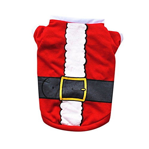 Christmas Pet Costumes.Christmas Pet Clothes Cute Dog T Shirt Soft Cotton Shirt Costumes Clothing Red Xs