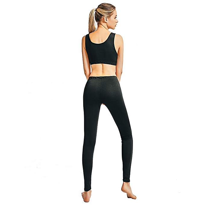 Yoga Suit Polyester Women Fitness Bra Top Vest Pants Sports Tights Compression Workout Breathable Quick-drying Gym Suit Home