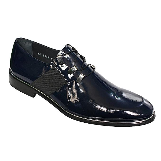 d2d13b1662784 Buy Generic Men's Patent Leather Lace Up Shoes - Navy Blue online ...