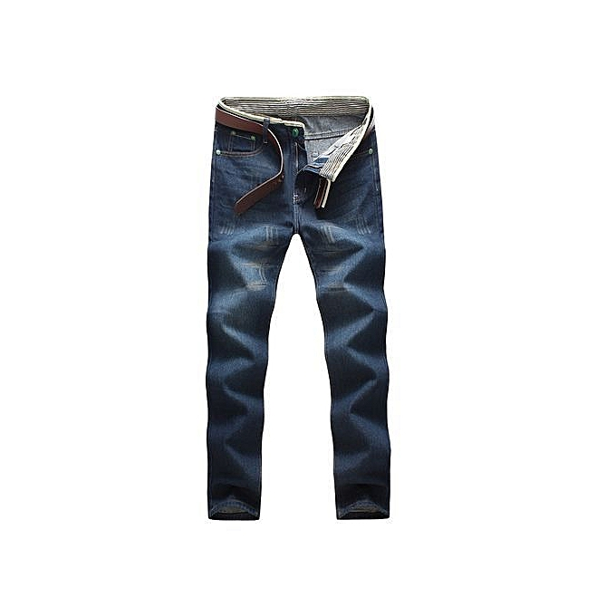 a25bb8d1 Refined Fashion Designer Jeans Men Straight Dark Blue Color Printed Mens  Jeans Ripped 100% Cotton