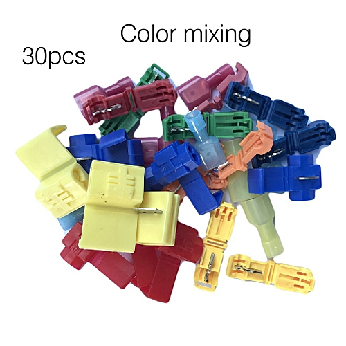 Lossless Wire Connector Quick Splice Wire Terminals Female Spade Connector  Random 30PCS