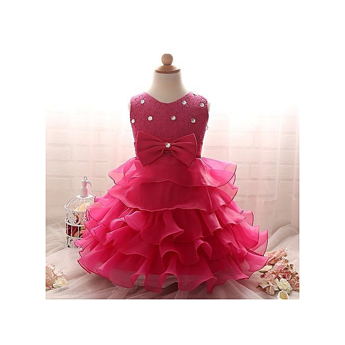 32e5b2e0d3 Toddler Girls Fancy Princess Tutu Dress Holiday Flower Double Layerose  Fluffy Baby Girl Dress Gown Princess