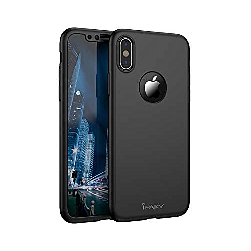 wholesale dealer d21eb 7a951 Luxury Hard 360° Cover for Iphone x - Black