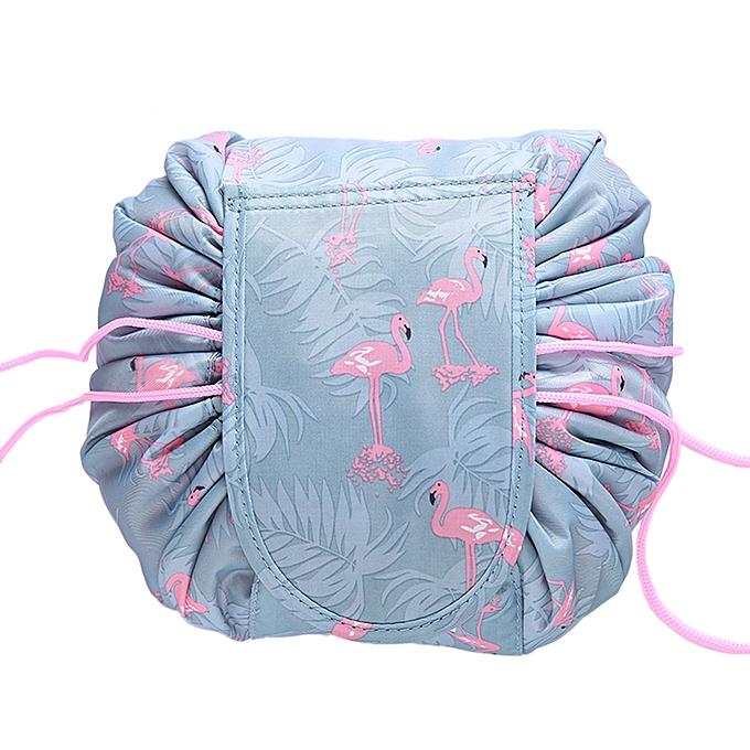 0736d2baa5fe Fashion Cosmetic Bag Large Capacity Lazy Makeup Toiletry Bag Storage  Portable Drawstring Quick Pack Waterproof Travel Bag