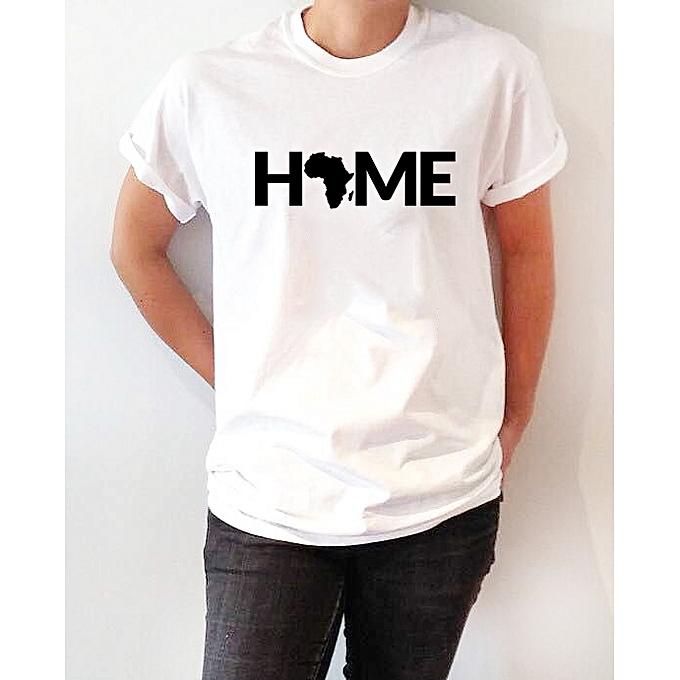 086e08d05 designer Home Africa Women's T-Shirt - White | Jumia Uganda