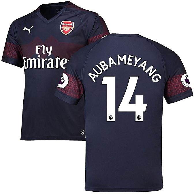 0d4a32fd Buy Generic 2018/19 Curstomized Aubameyang Arsenal jersey Replica ...