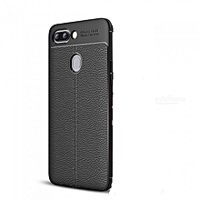 Auto Focus Soft TPU Leather Back Cover For Phantom 8 - Black