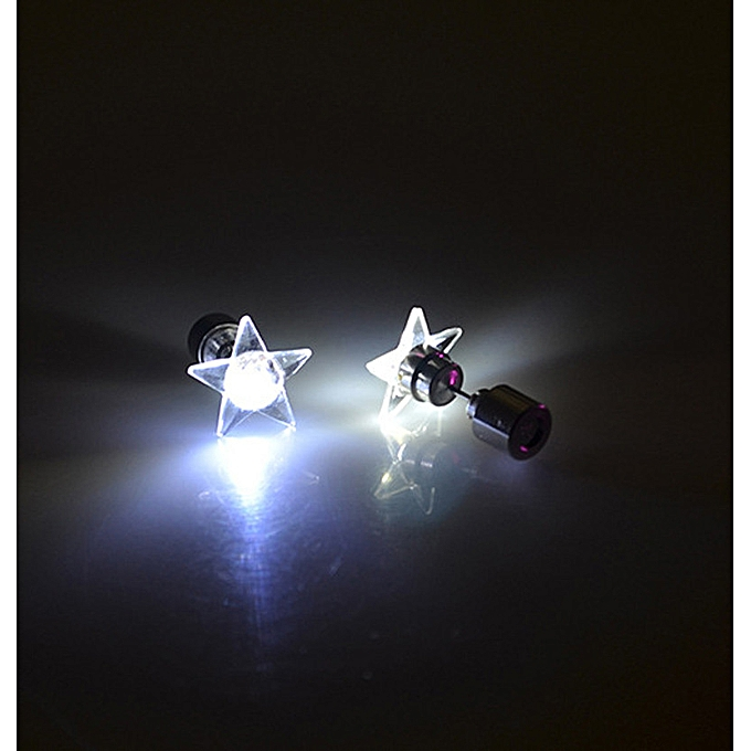 b8933ac70ccdd Hiamok 1 Pair/2pcs Fashion Dance Party Accessories Light Up LED Bling Ear  Studs Earring