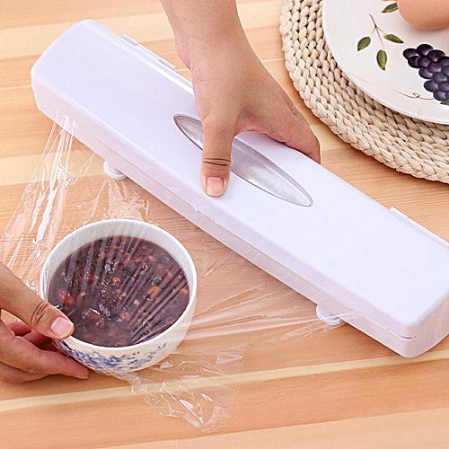 (Xiuxingzi) Plastic Food Wrap Cling Film Dispenser Aluminum Foil Wax Paper  Cutter Cut Box