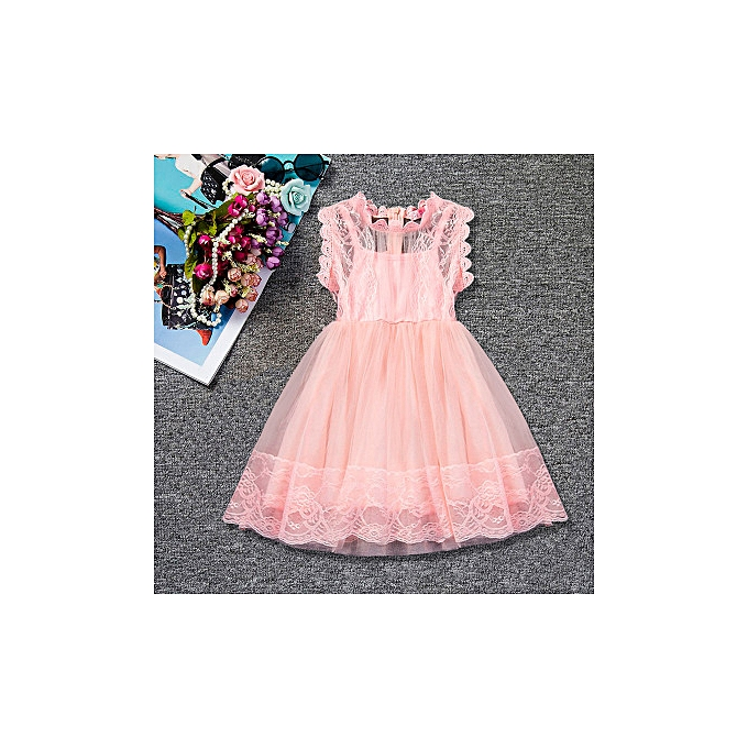 a32fb5cf20ed1 Buy FASHION 2019 New Lace Girl Dress Mesh Princess Skirt online ...