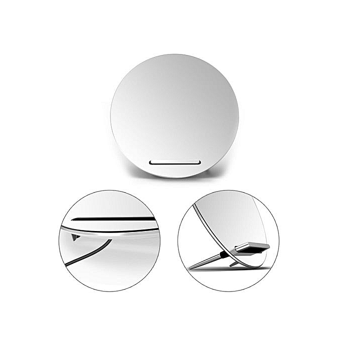 Wireless Charger Makeup Mirror Fast Quick Charging Stand For IPhone 8 8plus  X Samsung S7 S8 - Silver,for IPhone XS Max, XS, XR, X, 8, 8 Plus, Samsung