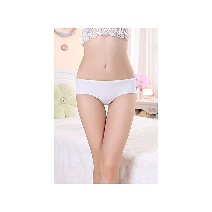2622cdcfeb0d Large size ice silk panties women's one-piece seamless triangle underwear  middle waist briefs-