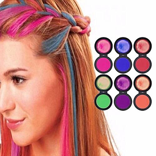 Generic 6 Color Fashion Hair Powder Colors Hair Dye Temporary Hair ...