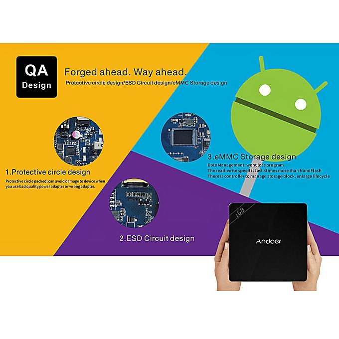 i68 Android 5 1 TV Box RK3368 64bits Octa core Cortex A53 1G / 8G Miracast  / DLNA H 264 / H 265 4K * 2K 802 11b/g/n 2 4G WiFi Mini PC Smart Media